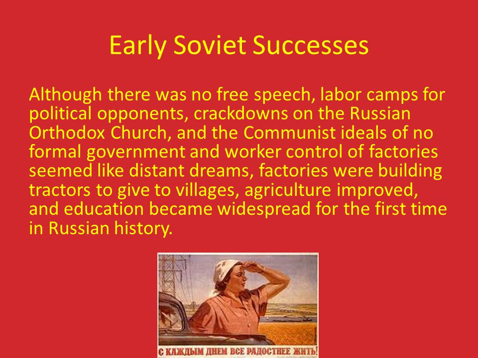 Early Soviet Successes