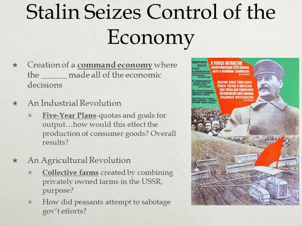 Stalin Seizes Control of the Economy