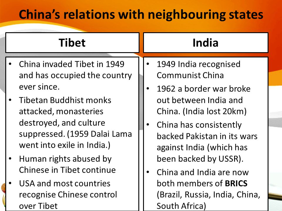 China's relations with neighbouring states
