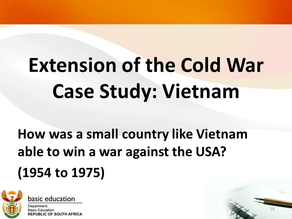 Extension of the Cold War Case Study: Vietnam