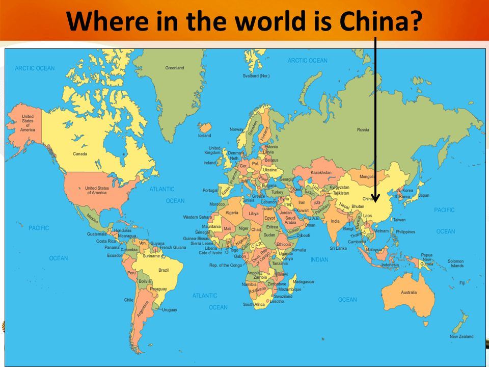Where in the world is China