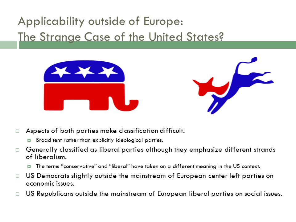 Applicability outside of Europe: The Strange Case of the United States