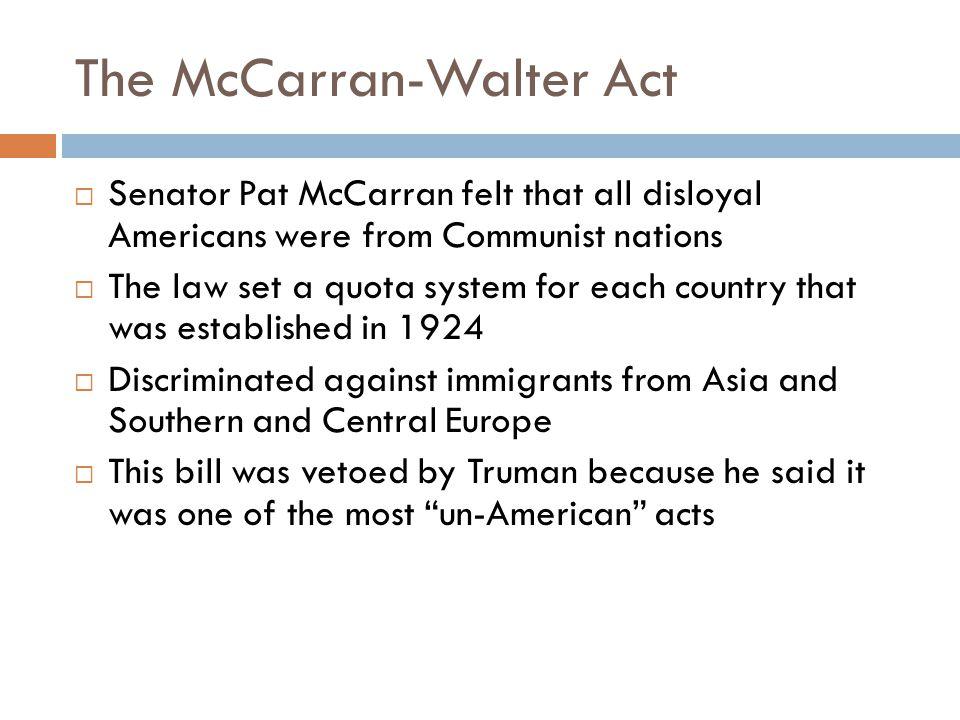 The McCarran-Walter Act