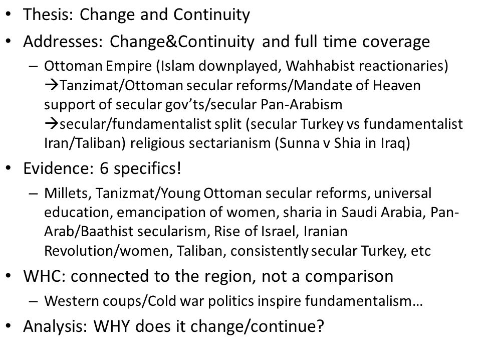 change and continuity essay islam