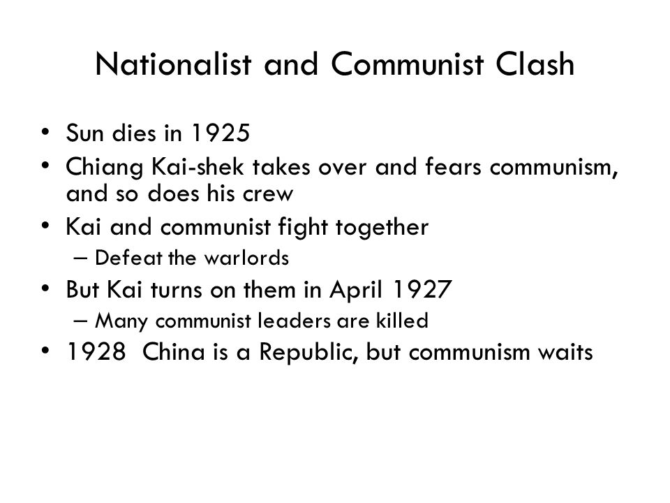 Nationalist and Communist Clash