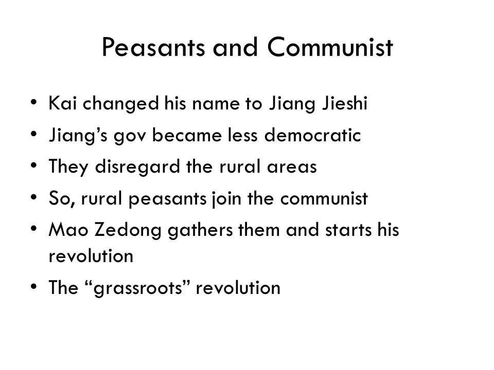 Peasants and Communist