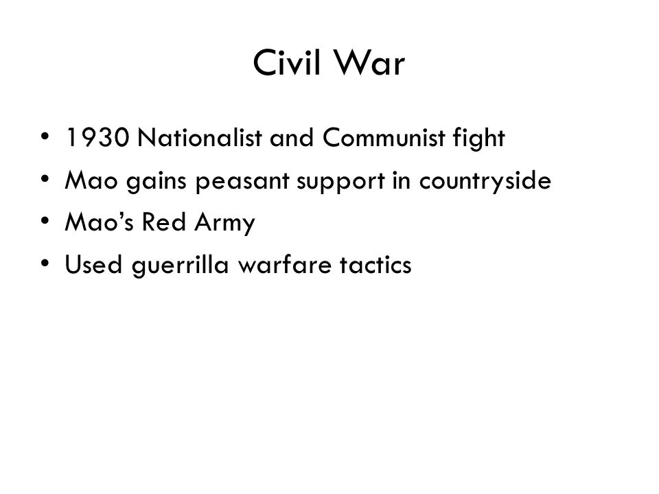 Civil War 1930 Nationalist and Communist fight