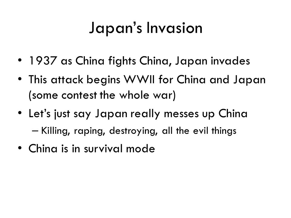 Japan's Invasion 1937 as China fights China, Japan invades