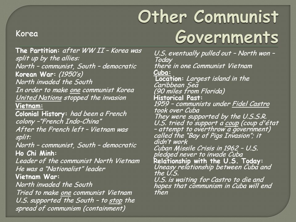 Other Communist Governments