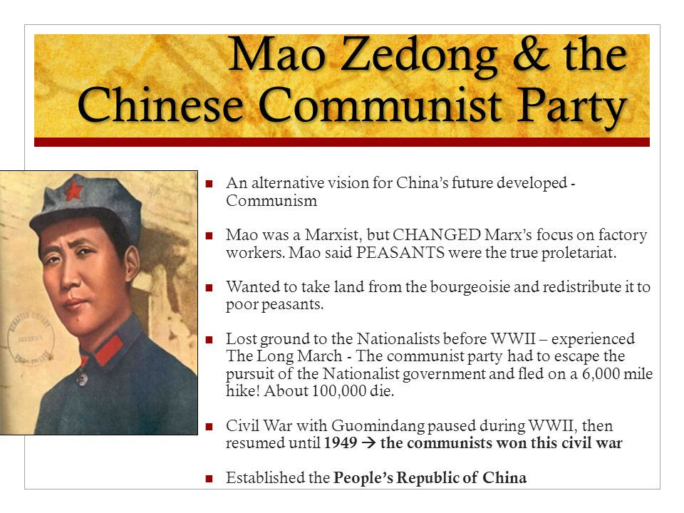 Mao Zedong & the Chinese Communist Party