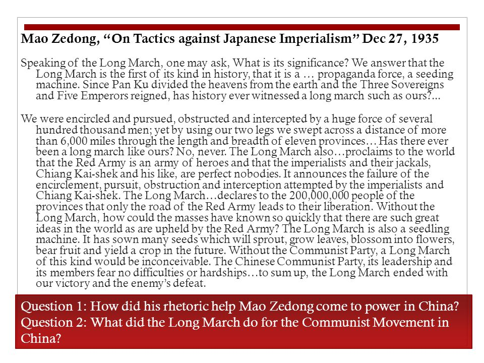 Mao Zedong, On Tactics against Japanese Imperialism Dec 27, 1935