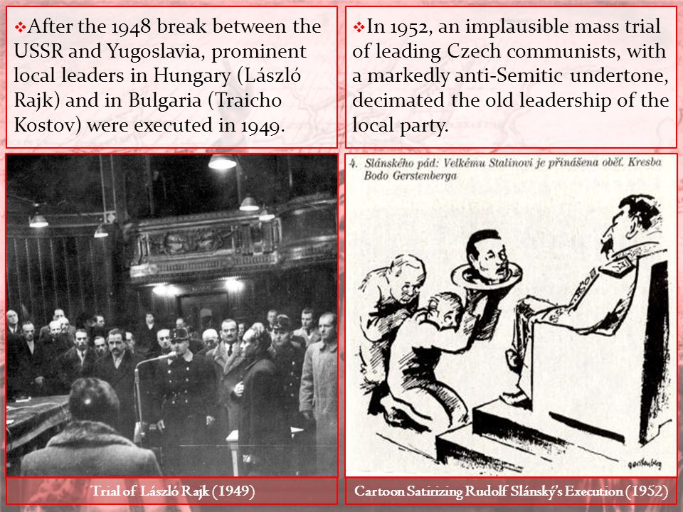 Cartoon Satirizing Rudolf Slánský's Execution (1952)