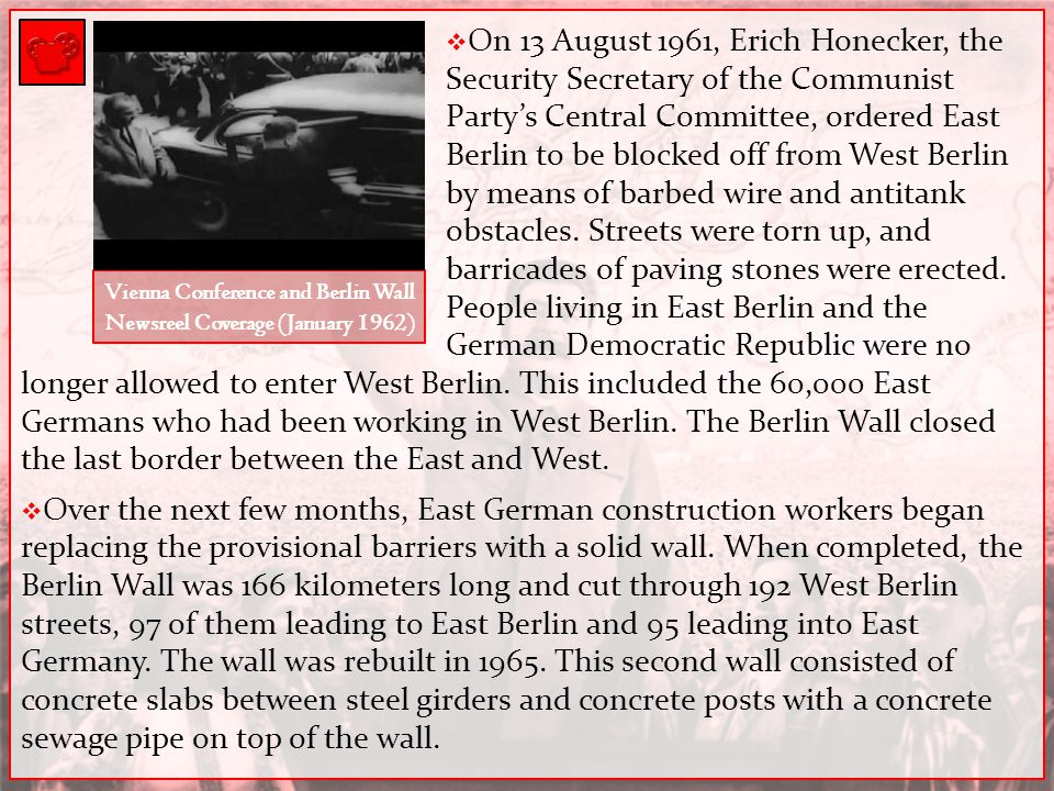 Vienna Conference and Berlin Wall Newsreel Coverage (January 1962)