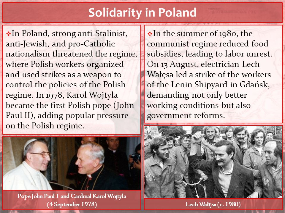 Pope John Paul 1 and Cardinal Karol Wojtyla