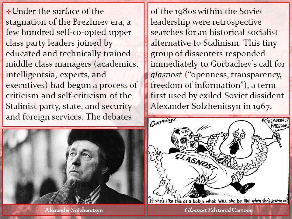 Alexander Solzhenitsyn Glasnost Editorial Cartoon