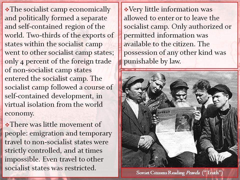 Soviet Citizens Reading Pravda ( Truth )