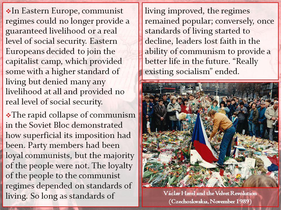Václav Havel and the Velvet Revolution (Czechoslovakia, November 1989)