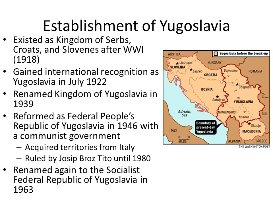 Establishment of Yugoslavia