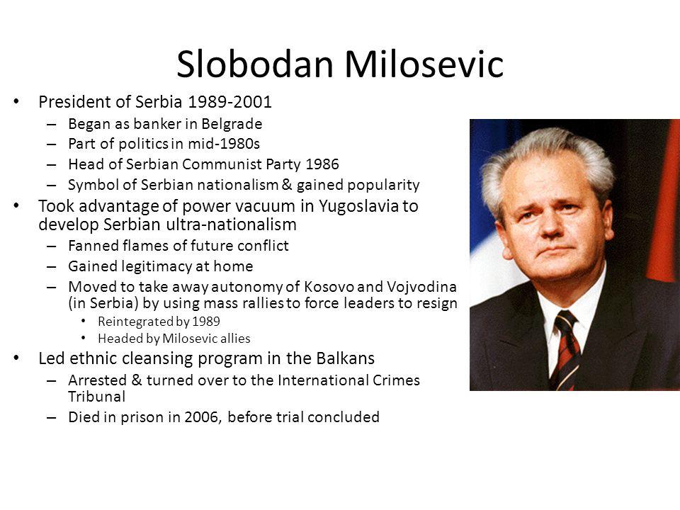 Slobodan Milosevic President of Serbia 1989-2001