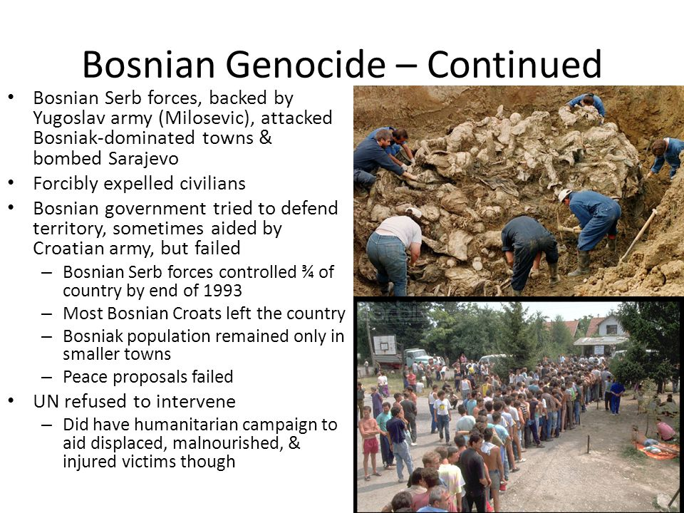Bosnian Genocide – Continued