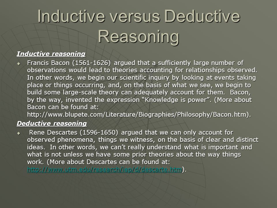 deductive versus inductive The effectiveness of modified inductive versus deductive teaching a case study on word order amongst a group of english as a foreign language learners.