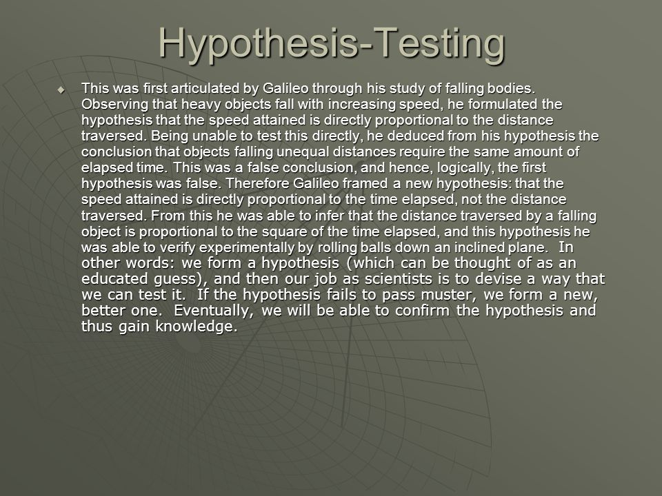 Hypothesis-Testing