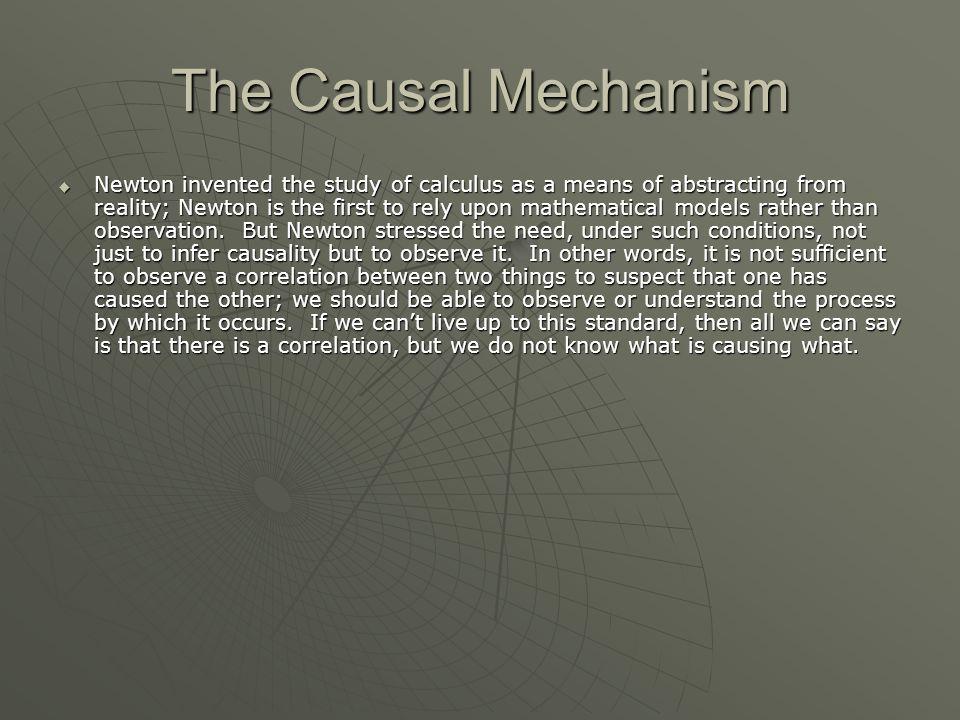 The Causal Mechanism