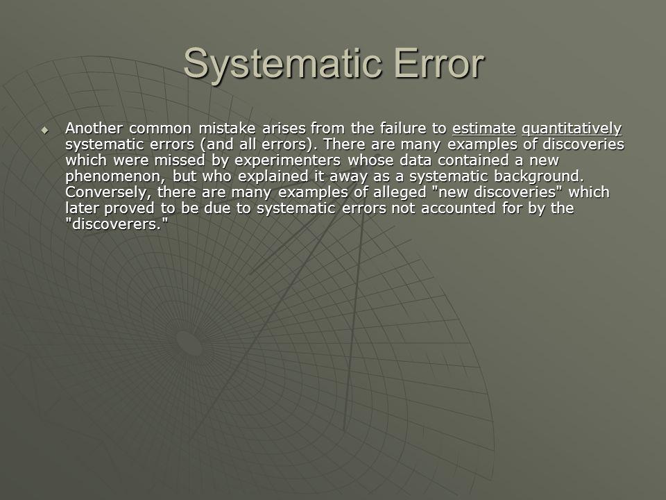 Systematic Error