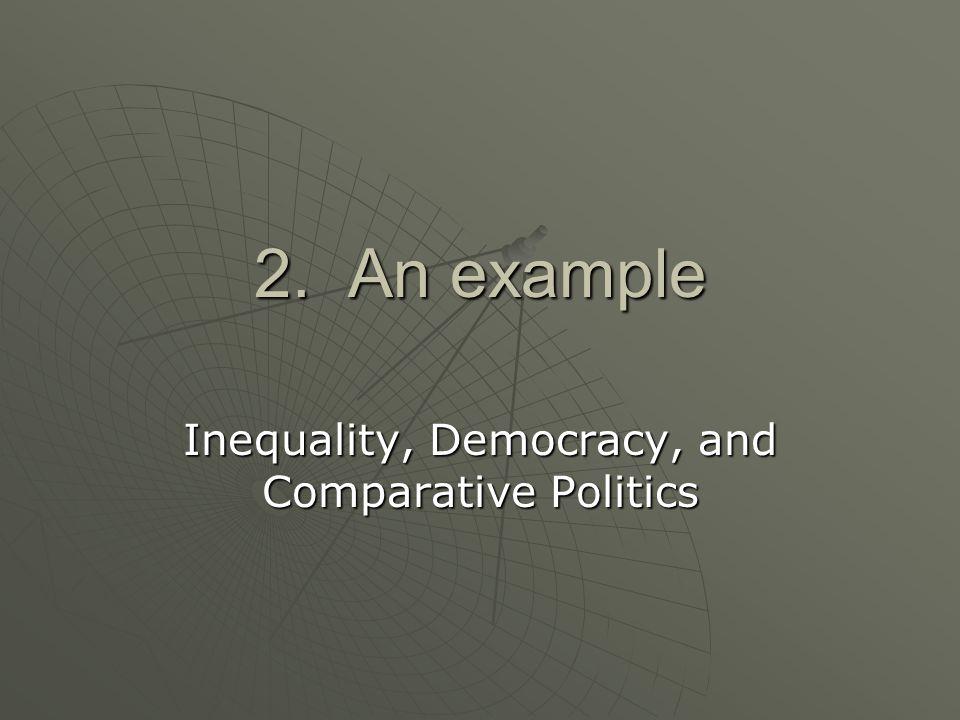 Inequality, Democracy, and Comparative Politics