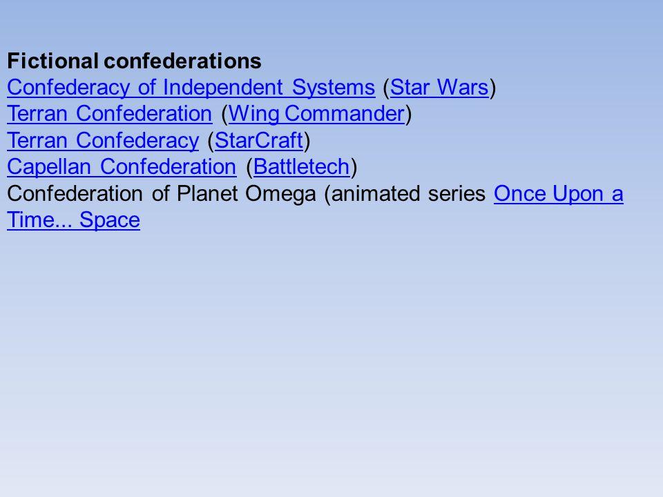 Fictional confederations