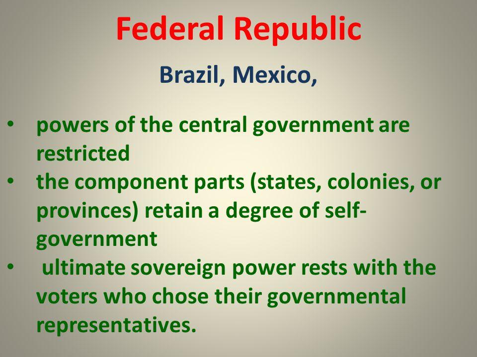 Federal Republic Brazil, Mexico,