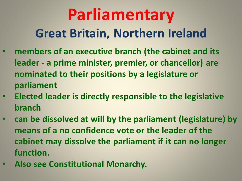 Great Britain, Northern Ireland