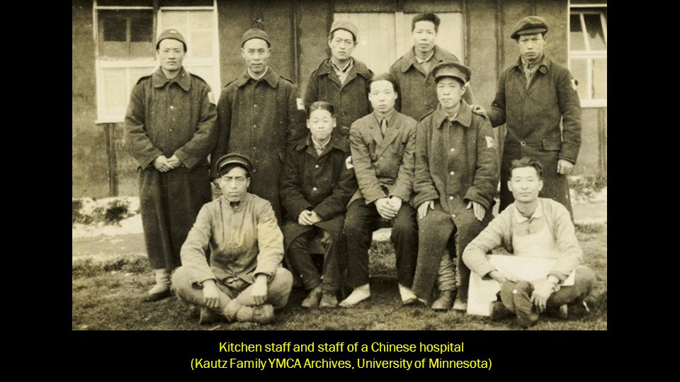 Kitchen staff and staff of a Chinese hospital