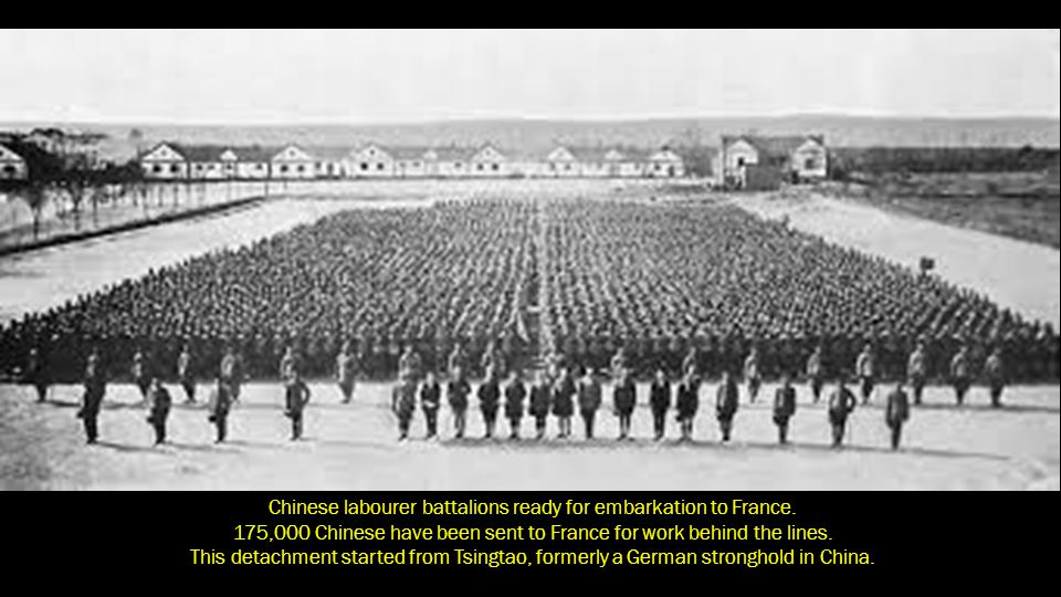 Chinese labourer battalions ready for embarkation to France.