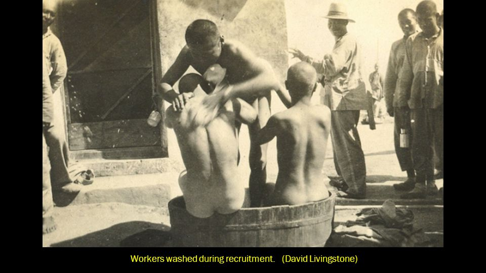 Workers washed during recruitment. (David Livingstone)