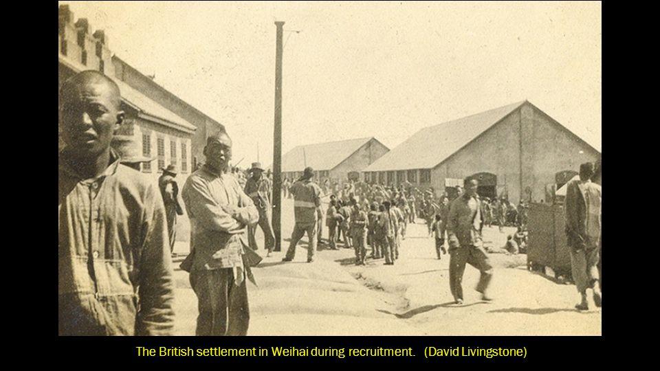 The British settlement in Weihai during recruitment
