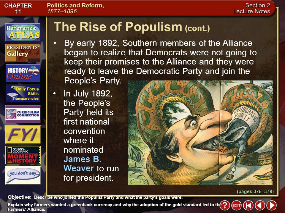 The Rise of Populism (cont.)