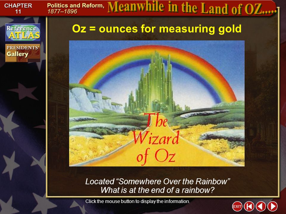 Meanwhile in the Land of OZ.....