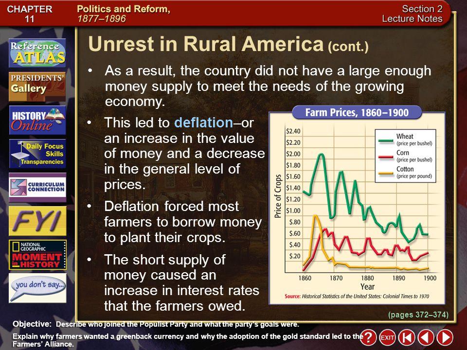 Unrest in Rural America (cont.)