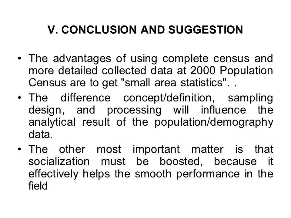 V. CONCLUSION AND SUGGESTION
