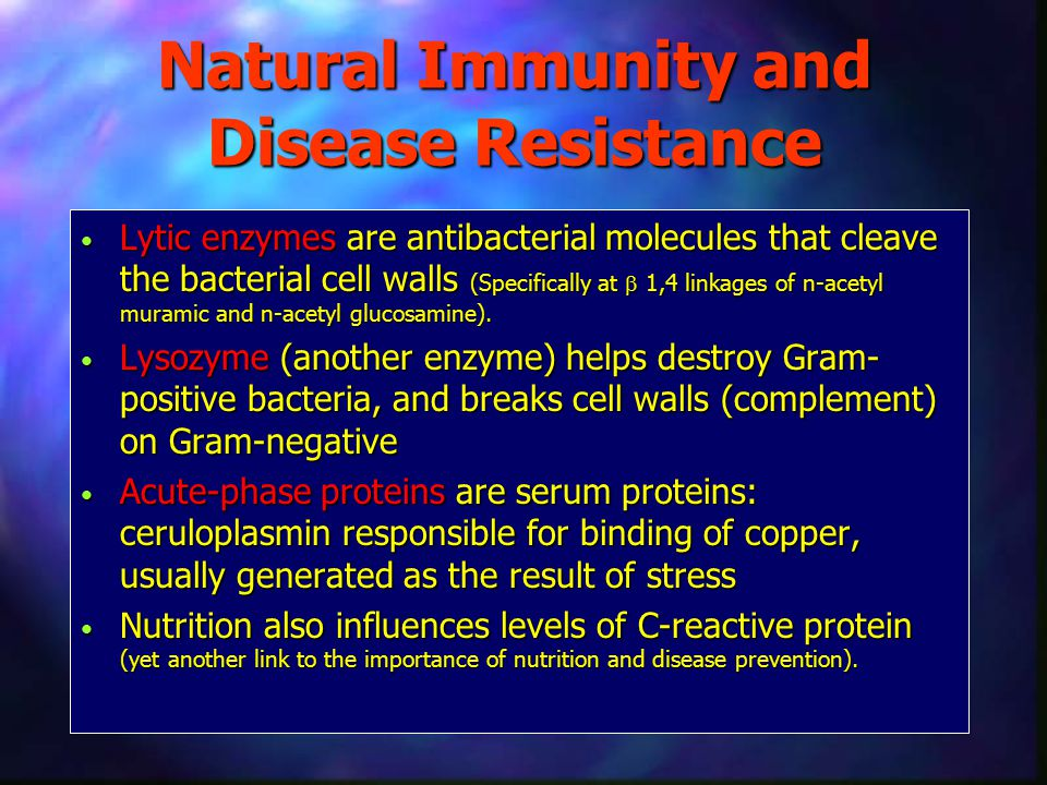 Natural Immunity and Disease Resistance