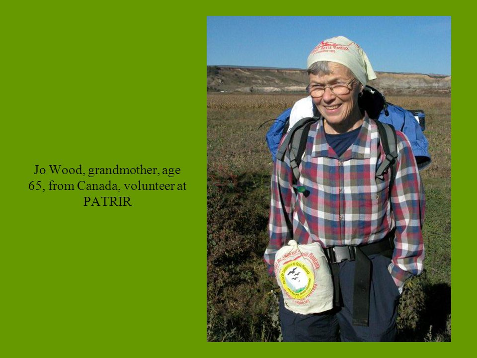 Jo Wood, grandmother, age 65, from Canada, volunteer at PATRIR