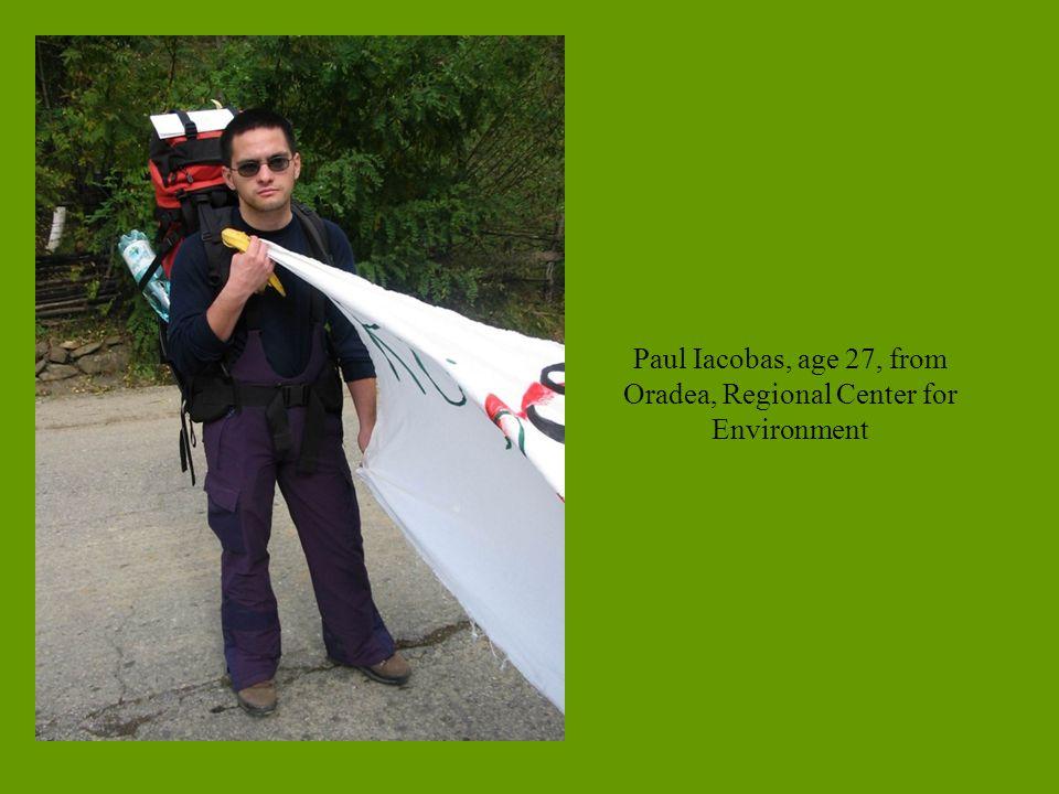 Paul Iacobas, age 27, from Oradea, Regional Center for Environment