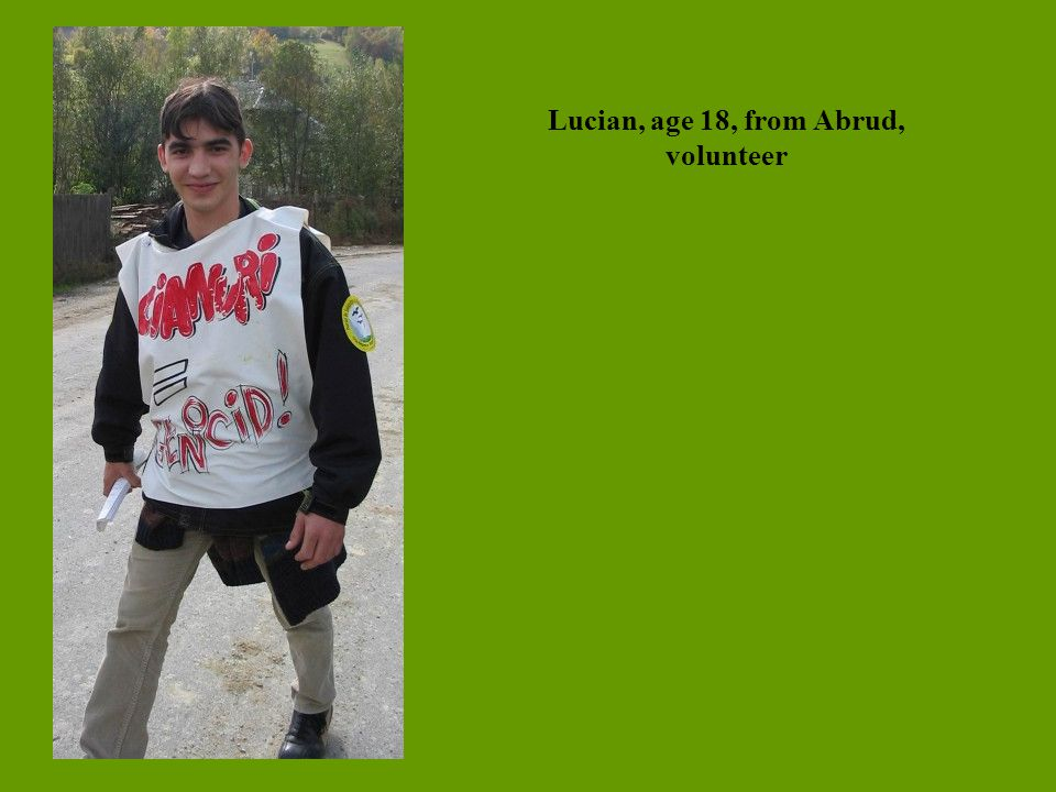 Lucian, age 18, from Abrud, volunteer