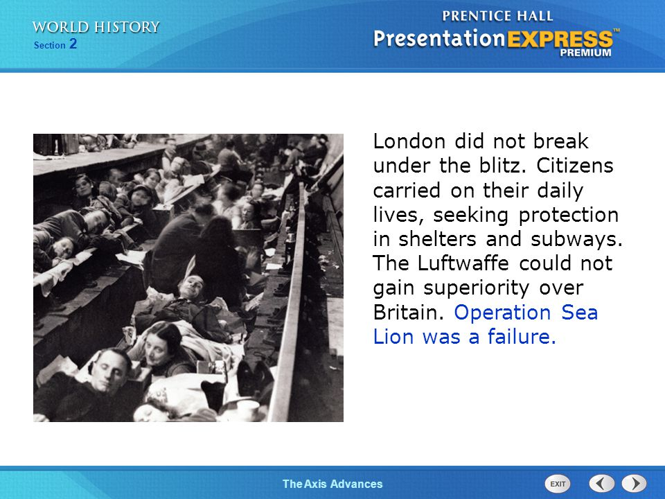 London did not break under the blitz