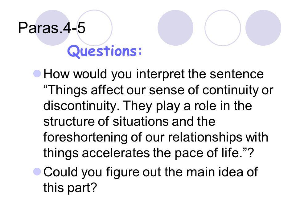 Paras.4-5 Questions: