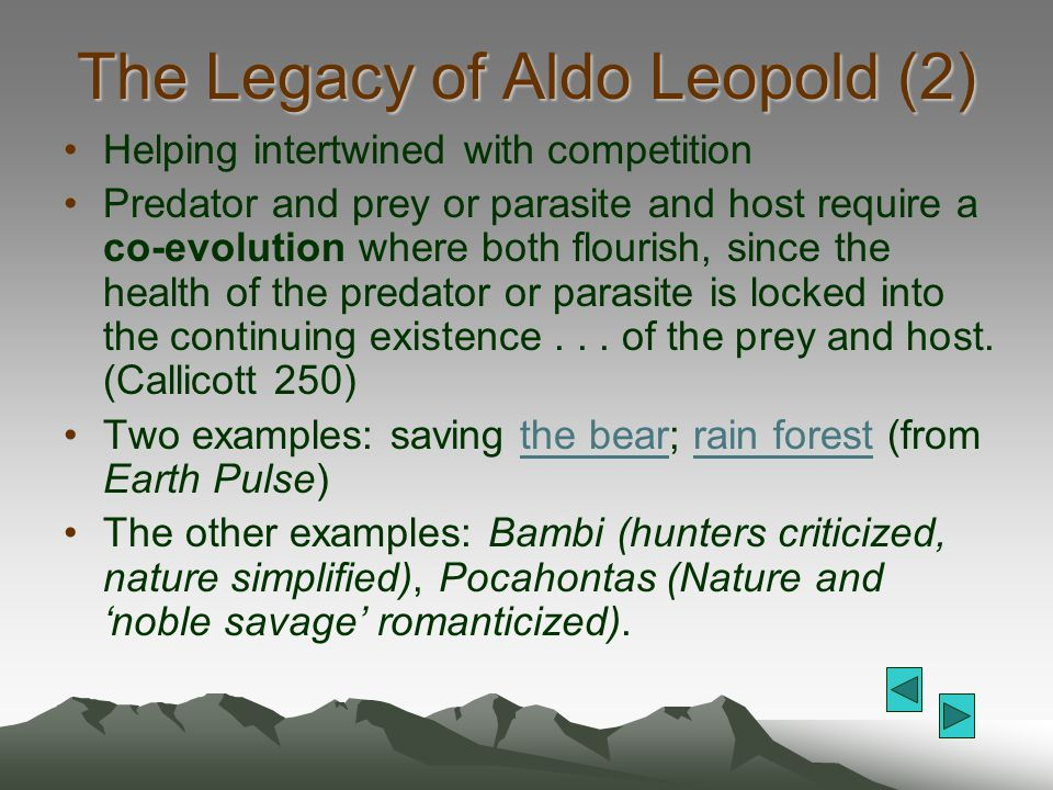 The Legacy of Aldo Leopold (2)