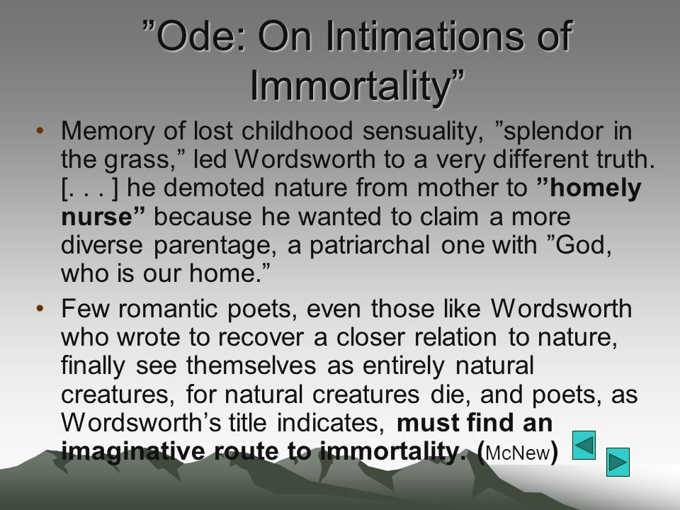 Ode: On Intimations of Immortality