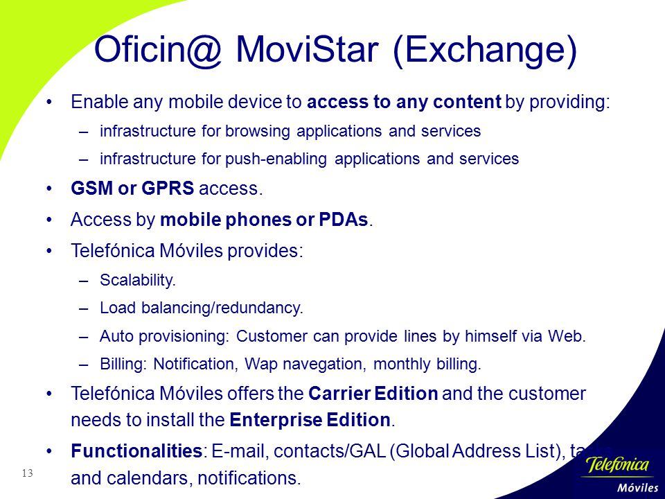 Oficin@ MoviStar (Exchange)