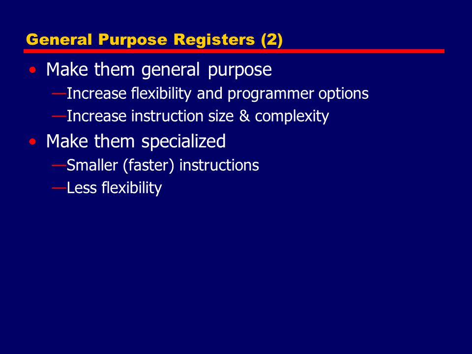 General Purpose Registers (2)